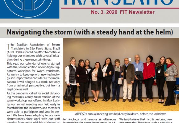 Artigo da ATPIESP no boletim Translatio da FIT